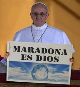Papa Francisco-Maradona