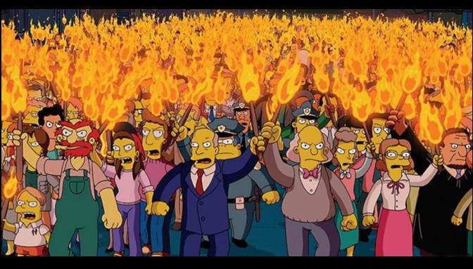 Comunicado por el retiro de Los Simpsons de Canal 13